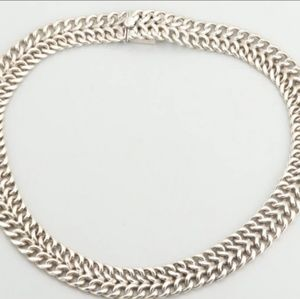 Jewelry - Heavy 3.5 Oz. Mexican Vintage Sterling Necklace